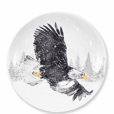 Vietri Into the Woods Eagle Large Bowl