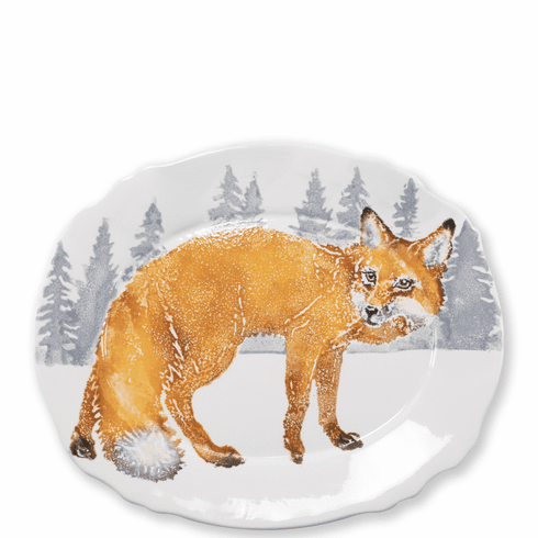 Vietri Into the Woods Fox Oval Platter