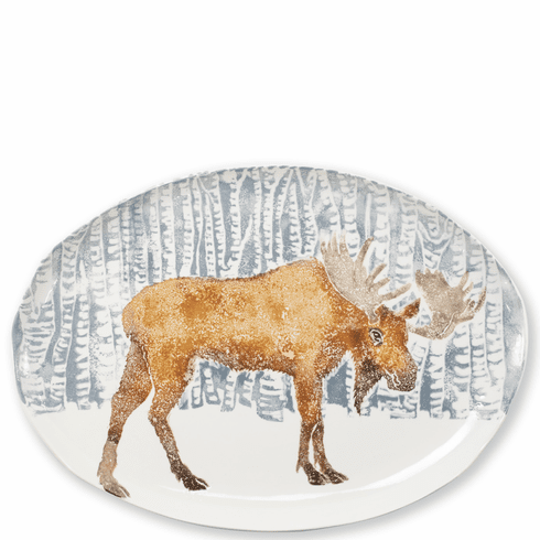 Vietri Into the Woods Moose Oval Platter
