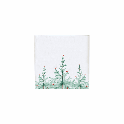 Vietri Lastra Holiday Cocktail Napkins (Pack of 20)