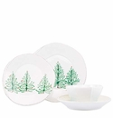 Vietri Lastra Holiday Four-Piece Place Setting