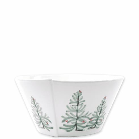 Vietri Lastra Holiday Medium Stacking Serving Bowl