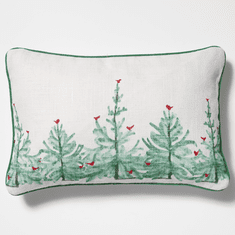 Vietri Lastra Holiday Rectangular Pillow