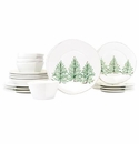 Vietri Lastra Holiday Sixteen-Piece Place Setting