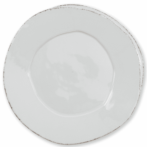 Vietri Lastra Light Gray Dinner Plate