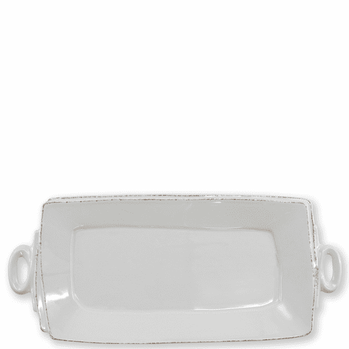 Vietri Lastra Light Gray Handled Rectangular Platter
