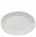 Vietri Lastra Light Gray Oval Platter