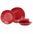 Vietri Lastra Red Four-Piece Place Setting