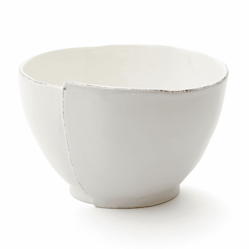 Vietri Lastra White Deep Serving Bowl