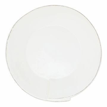 Vietri Lastra White Large Shallow Serving Bowl