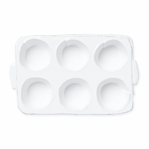 Vietri Lastra White Muffin Tin