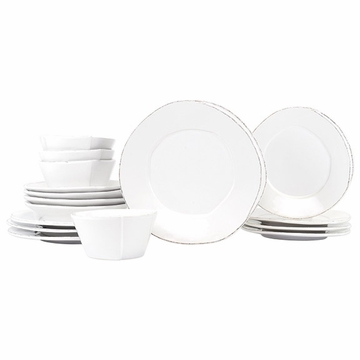 Vietri Lastra White Sixteen-Piece Place Setting
