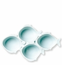Vietri Melamine Lastra Fish Aqua Four-Part Server