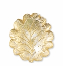 Vietri Moon Glass Leaf Salad Plate