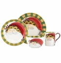 Vietri Old St. Nick Animal Hat Four-Piece Place Setting