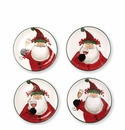 Vietri Old St. Nick Cocktail Plates - Set of 4