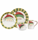 Vietri Old St. Nick Green Hat Four-Piece Place Setting