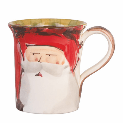 Vietri Old St. Nick Mug - Red