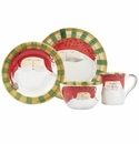Vietri Old St. Nick Red Hat Four-Piece Place Setting