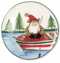 Vietri Old St. Nick Round Platter - Fishing
