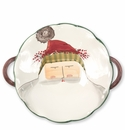 Vietri Old St. Nick Scallop Handled Bowl with Face