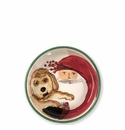 Vietri Old St. Nick Small Dog Bowl