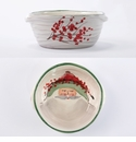 Vietri Old St. Nick Small Handled Baking Dish with Santa Face - FREE gift with $250 Vietri purchase!