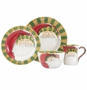 Vietri Old St. Nick Striped Hat Four-Piece Place Setting