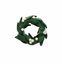 Vietri Ornaments Felt Wreath with White Berries Ornament