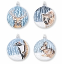 Vietri Ornaments Into the Woods Assorted Ornaments - Set of 4