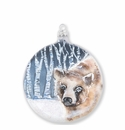 Vietri Ornaments Into the Woods Bear Disc Ornament