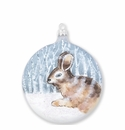 Vietri Ornaments Into the Woods Hare Disc Ornament