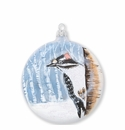 Vietri Ornaments Into the Woods Woodpecker Disc Ornament