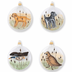 Vietri Ornaments Wildlife Assorted Ornaments - Set of 4
