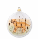 Vietri Ornaments Wildlife Hunting Dog Disc Ornament