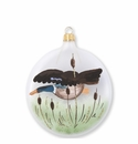 Vietri Ornaments Wildlife Mallard Disc Ornament
