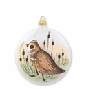 Vietri Ornaments Wildlife Quail Disc Ornament