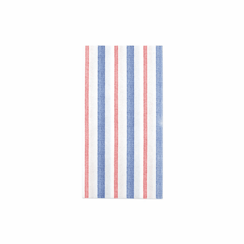 VIETRI Papersoft Napkins Americana Stripe Guest Towels (Pack of 50)