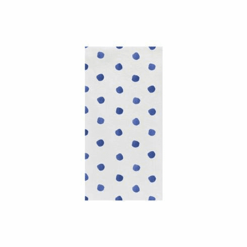 VIETRI Papersoft Napkins Blue Dot Guest Towels (Pack of 50)