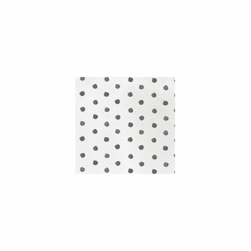 VIETRI Papersoft Napkins Gray Dot Cocktail Napkins (Pack of 20)