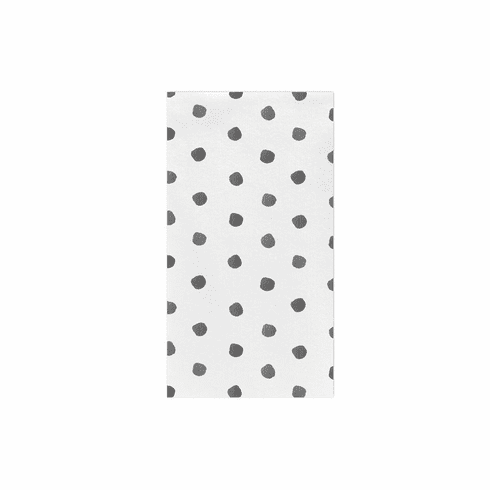 VIETRI Papersoft Napkins Gray Dot Guest Towels (Pack of 50)