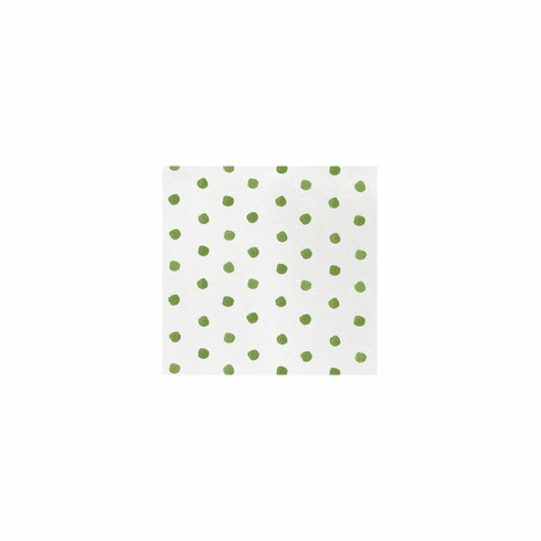 VIETRI Papersoft Napkins Green Dot Cocktail Napkins (Pack of 20)