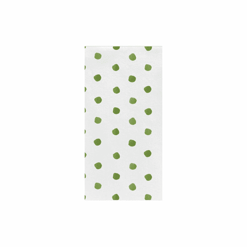 VIETRI Papersoft Napkins Green Dot Guest Towels (Pack of 20)