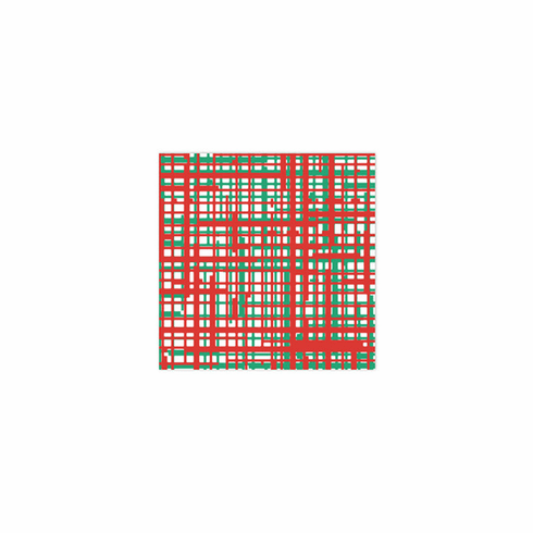VIETRI Papersoft Napkins Green & Red Plaid Cocktail Napkins (Pack of 20)