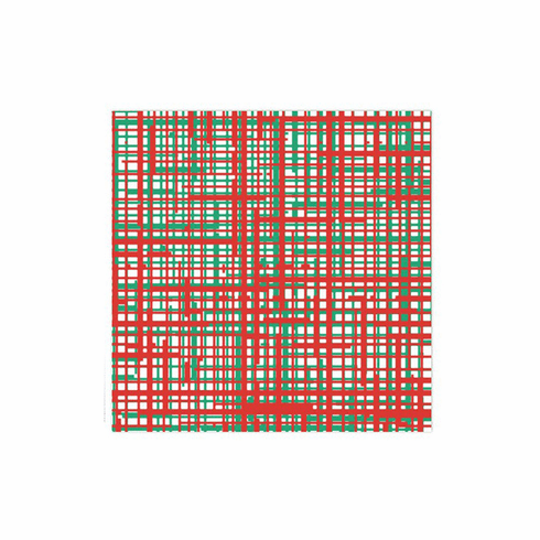 VIETRI Papersoft Napkins Green & Red Plaid Dinner Napkins (Pack of 50)