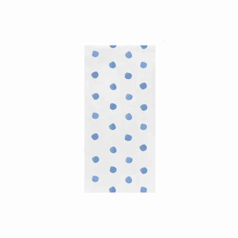 VIETRI Papersoft Napkins Light Blue Dot Guest Towels (Pack of 50)