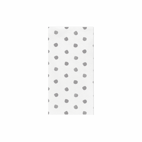 VIETRI Papersoft Napkins Light Gray Dot Guest Towels (Pack of 20)