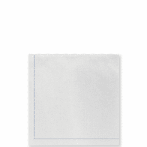 Vietri Papersoft Napkins Linea Blue Cocktail Napkins (Pack of 20)