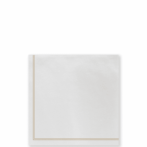 Vietri Papersoft Napkins Linea Brown Cocktail Napkins (Pack of 20)