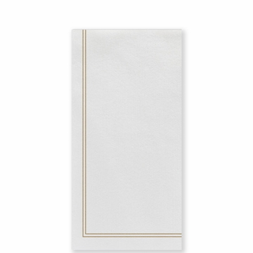 Vietri Papersoft Napkins Linea Brown Guest Towels (Pack of 50)